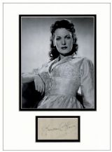 Maureen O'Hara Autograph Signed Display